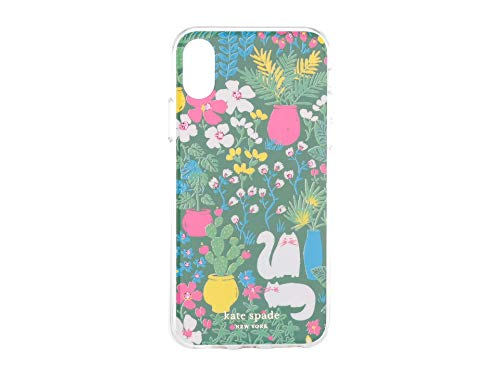 Kate Spade New York Women's Jeweled Garden Posy Phone Case for iPhone Xs Green Multi One Size (Iphone 3 Jeweled Case)