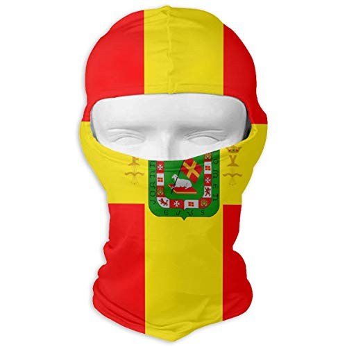 TONICCN Reunification of Puerto Rico with Spain Winter Motorcycle Full Face Mask Sun Protection Neck Cover Hood for Men and Women
