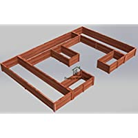 Easy DIY Raised Garden Bed Frame - Design Plans Instructions for Woodworking 06