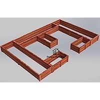 Easy DIY Raised Garden Bed Frame - Design Plans Instructions for Woodworking 06