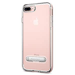 Spigen Crystal Hybrid iPhone 7 Plus Case with Water-Mark Free TPU and Magnetic Metal Kickstand for iPhone 7 Plus 2016 - Rose Gold