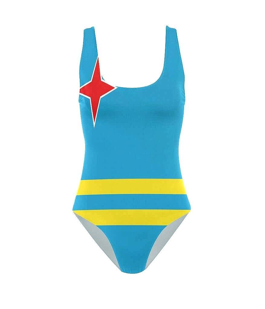 Amazon.com: Ainans - Bañador para mujer, diseño de bandera ...