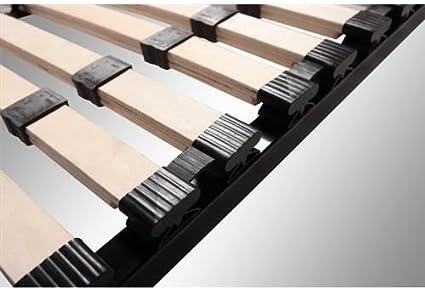 Somier multiláminas 140x200 cm con reguladores lumbares - 9 patas incluídas