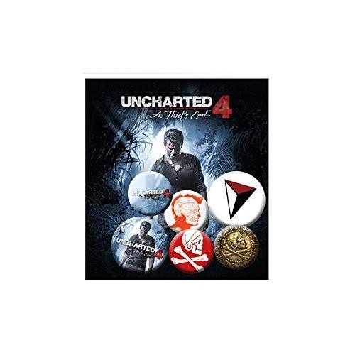 Otros Fabricantes GB Eye, Uncharted 4, Mix, Pack de Chapas ...
