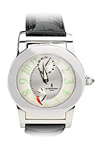 De Grisogono Instrumento Tondo Automatic GMT with Power Reserve. White Dial