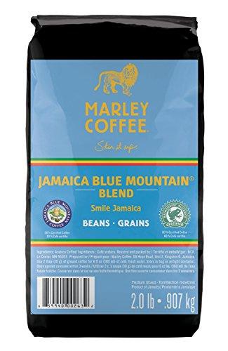 Marley Coffee Smile Jamaica, Jamaica Blue Mountain Blend, Whole Bean Coffee, 2 Pound