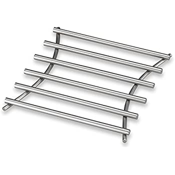 'EURO Square Trivet in Satin Nickel by Spectrum' from the web at 'https://images-na.ssl-images-amazon.com/images/I/41LaYAEzyyL._SL500_AC_SS350_.jpg'