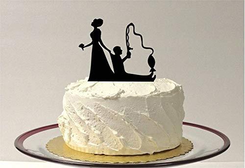 Funny Fishing Wedding Cake Topper Short Hair Bride Hair Up, Fishing Themed Wedding Cake Topper Fishing Topper -