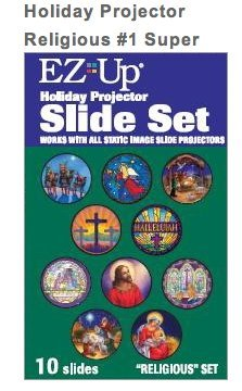 Holiday Projector Replacement Slide Pack - - Christmas Lights Religious