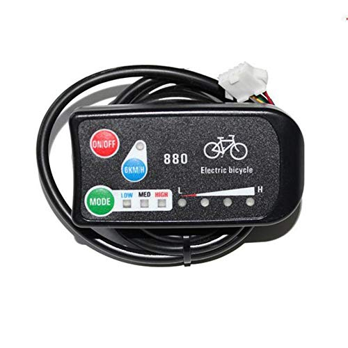 Vongcoki Ebike 3-Speed Pas Led Control Panel/Display Meter-880 Electric Bicycle DIY Retrofitting Parts 36v/48v by Vongcoki