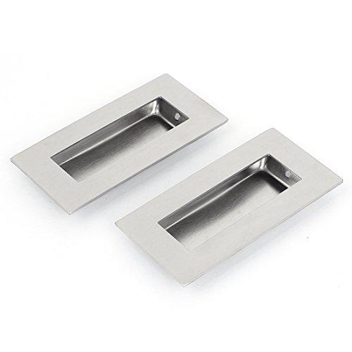 uxcell 52mmx102mm Recessed Flush Pull Finger Insert Door Handle 2PCS ()