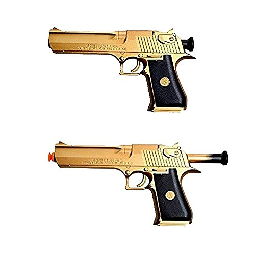 Golden Desert Eagle Toy Foam Dart Gun Toys