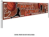 Colormoon Basketball Birthday Banner, Large Basketball Party Supplies...