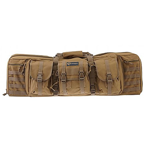 Drago Gear Tactical Double Gun Case Black OPS, DRAGOGEAR Tactical Double Gun Case Tan, One Size