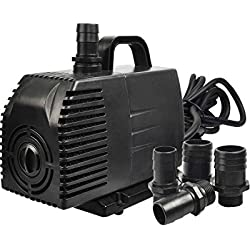 Simple Deluxe LGPUMP1056G 1056 GPH ULF Listed Submersible Water Pump with 15' Cord, Black