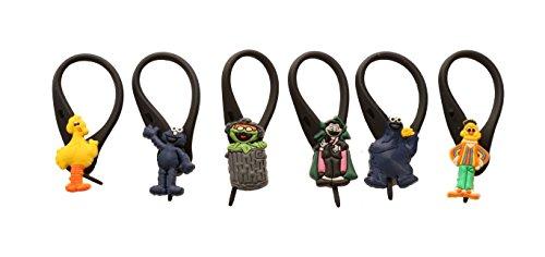 APSILON Black Rubber String Zipper Pulls - Sesame Street # 1