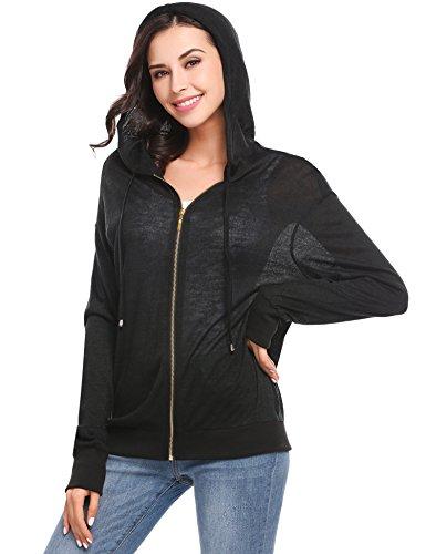 Hooded Full Zip Cardigan (Zeagoo Women's Full Zip Knitted Cardigans Casual Fleece Hoodie Jacket)