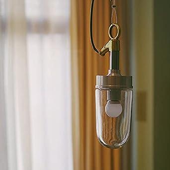 Zenghh Colgante de cristal Botella de cristal Chandelier de la vendimia Industria Steampunk y Electricidad Techo Colgante Luz Luz Rural Casa Rural Gancho Náutico Cojín de cobre Aima Fío de pared para
