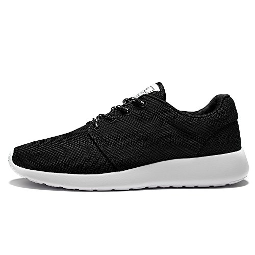 WOTTE Women's Running Shoes Breathable Mesh Roshe Sport Training Shoes Lightweight Casual Walking Sneakers(12 B(M) US, Black)