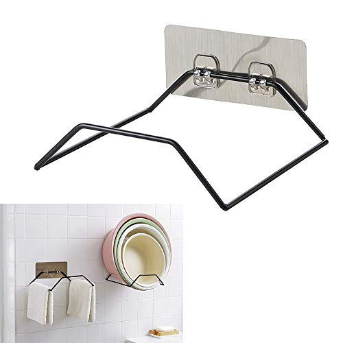 - WYS Bathroom Kitchen Multi-function Organize Wash Basins Rack Towel Rack, Wall Mounted Anti Rust Wash Basin Hanger, Space Saving Wash Basin Storage Ideas