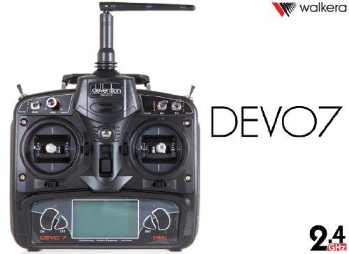 HobbyFlip Devention Devo 7 Radio Transmitter 7 Channel TX Compatible with Walkera QR Spacewalker