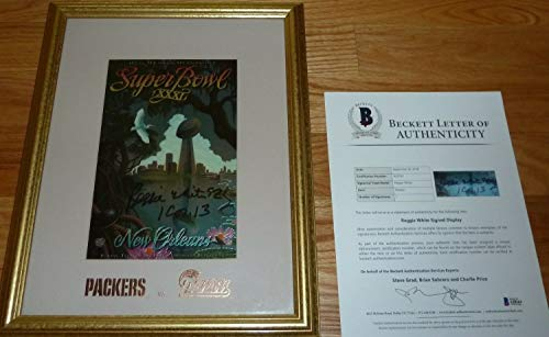 Beckett-Bas Reggie White Green Bay Packers Autographed Signed Super Bowl Xxxi Framed Photo 3 - Certified Signature