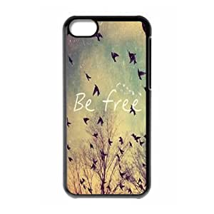 Cool Painting Be Free New Fashion DIY Phone Case for Iphone 5C,customized cover case case580875