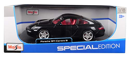 Porsche 911 Carrera S Metallic Bluish Gray with Red Interior 1/18 Diecast Model Car by Maisto 31692 (Porsche Gray Model)