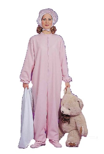 Women's Pink Jammies Costume, Pink, One Size