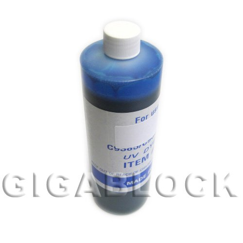 Continuous Ink System R1900 - Gigablock UV Dye based Bulk Pint(470ml) Cyan Refill Ink for CIS System Epson R1900 Inkjet Printer