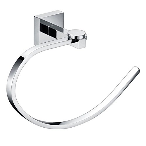 delicate Comfort's Home TR6002 Towel Holder, Bathroom Wall Mounted Towel Ring, Towel Holder Ring in Chrome