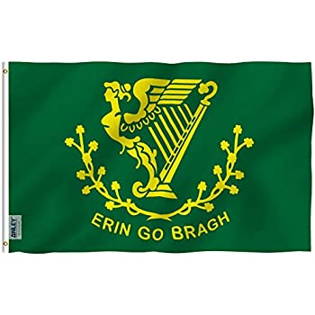 ERIN GO BRAGH 5ft X 3ft Flag 75denier with eyelets suitable for Flagpoles