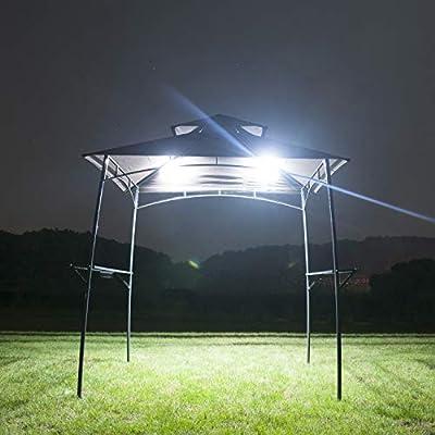GOJOOASIS 2 Unidades de toldo LED para Barbacoa o Tienda de campaña con Doble Rejilla: Amazon.es: Jardín