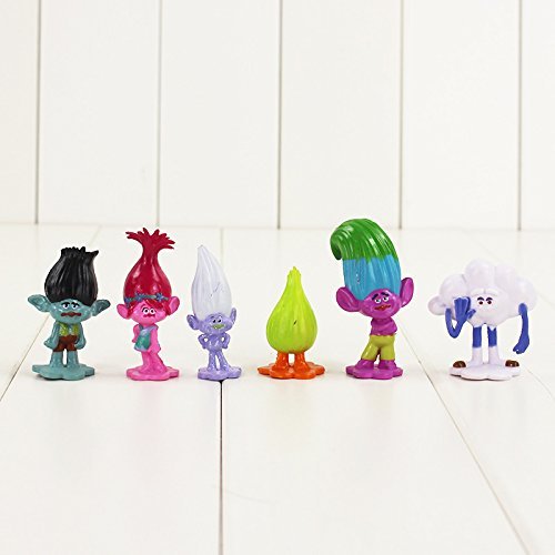 Amazon.com: 12pcs/lot Trolls figura juguete Poppy rama DJ ...