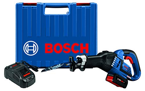Bosch GSA18V-125K14 18V EC Brushless 1-1/4 In.-Stroke Multi-Grip Reciprocating Saw Kit with CORE18V 6.3 Ah Battery