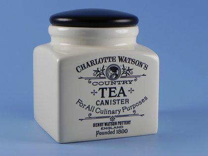 Charlotte Watson Country Collection in Cream Tea Canister - Collection Tea Storage Jar