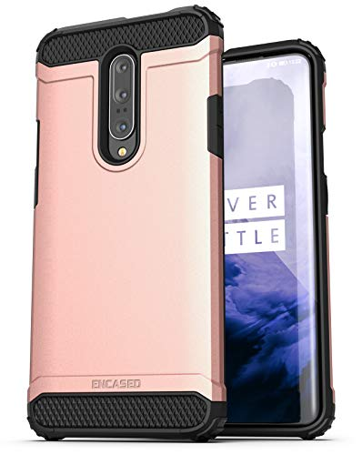 (Encased Heavy Duty OnePlus 7 Pro Case Rose Gold (2019 Scorpio Series) Military Grade Rugged Phone Protection Cover (One Plus 7 Pro))