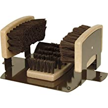 PS Products BB2 Boot & Shoe Brush with Scraper for Permanent Mounting