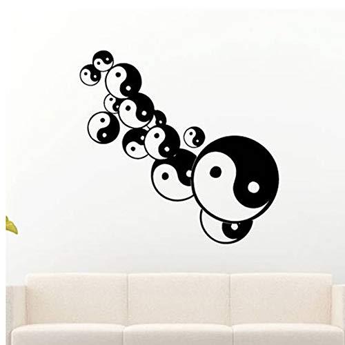 Yin Yang Balance Sign Tatuajes de Pared Yoga Studio Mandala Mehndi ...