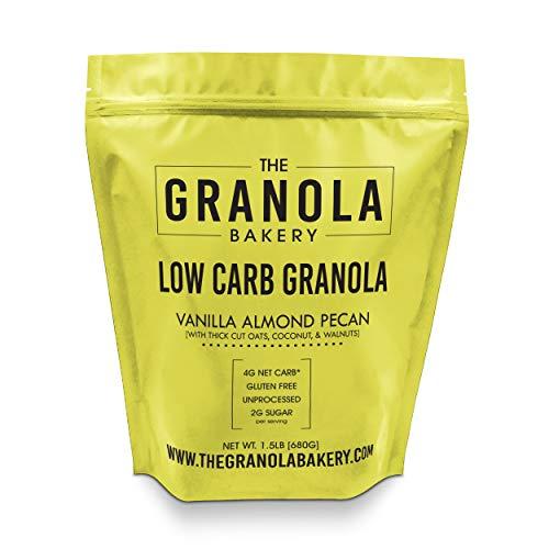 ELAN Gluten Free Granola, Healthy Low Sugar Breakfast Cereal, Salt Free, Whole Grain, Non Gmo, Vegan Food (Pecan Almond Walnut, 1.5lb Bulk Bag)