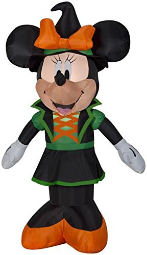 3.5 Airblown Minnie w/ Witch Hat Disney Halloween (Disney Halloween Airblown Inflatables)