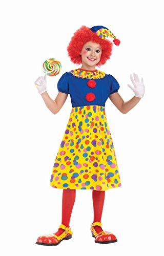 Forum Novelties Circus Clown Girl Costume, Child (Group Circus Costumes)