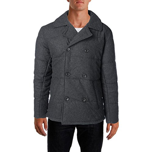 Quilted Wool Peacoat - 3