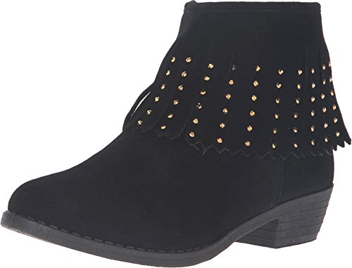 kensie girl Kids Girl's Fringe Ankle Boot (Little Kid/Big Kid) Black Boot