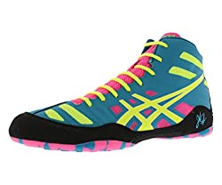 Asics Men's Jb Elite Wrestling Shoe,tealflash Yellowpink,13 M Us47 Eu