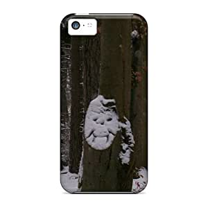 Iphone 5c Cases Covers - Slim Fit Protector Shock Absorbent Cases (laughing Tree)