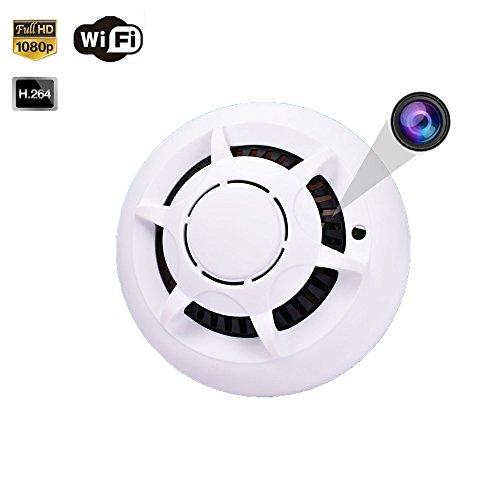 1080P WiFi Fire Alarm Detector Spy Camera, Smart APP Control