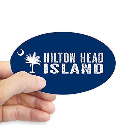 - CafePress Hilton Head Island, South Carolina Oval Bumper Sticker, Euro Oval Car Decal