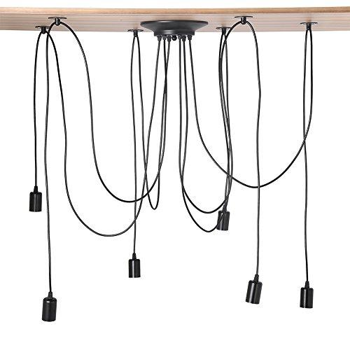 Industriële meerdere koppen plafondlamp licht houders, vintage antiek plafond 6 kops hanglamp kroonluchter voor…