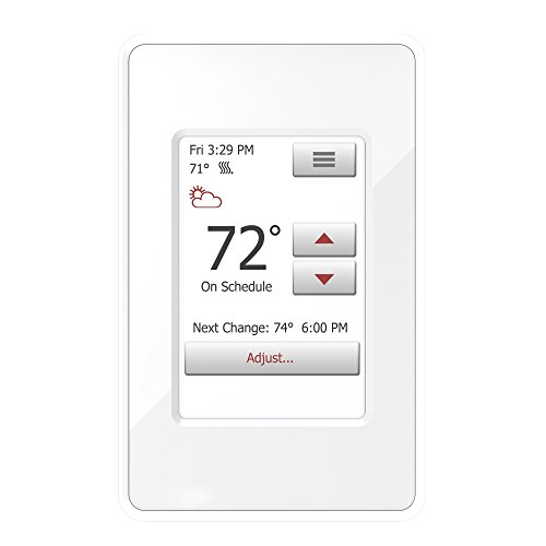 (WarmlyYours UDG4-4999 nSpire Touch Programmable Thermostat, with Floor Sensor, Class A GFCI, (White))